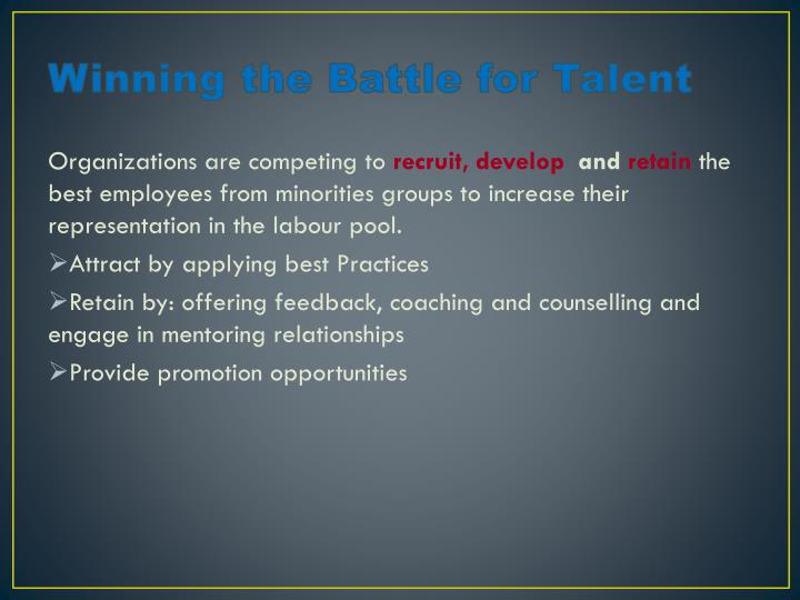 Winning the Battle for Talent