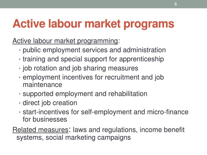Active labour market programs