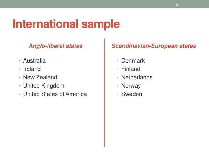 International sample