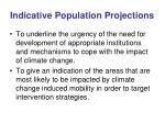 indicative population projections