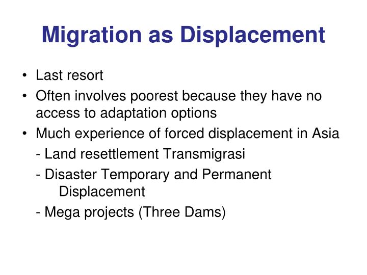 Migration as Displacement