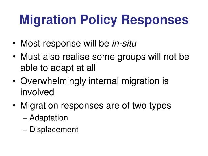 Migration Policy Responses
