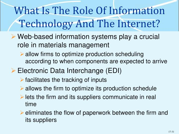 What Is The Role Of Information Technology And The Internet?