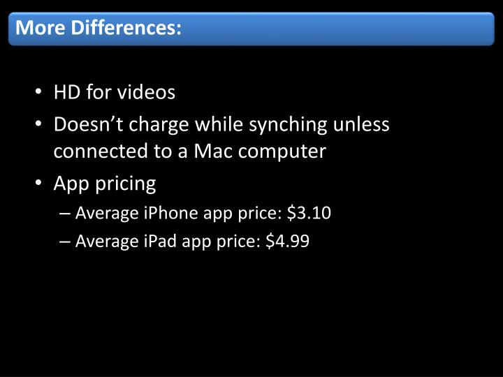 More Differences:
