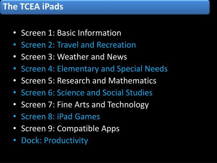The TCEA iPads