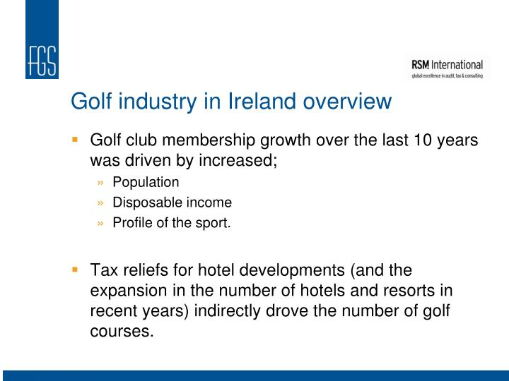 Golf industry in Ireland overview