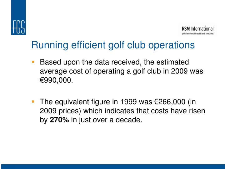 Running efficient golf club operations
