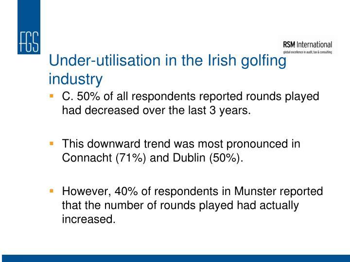 Under-utilisation in the Irish golfing industry