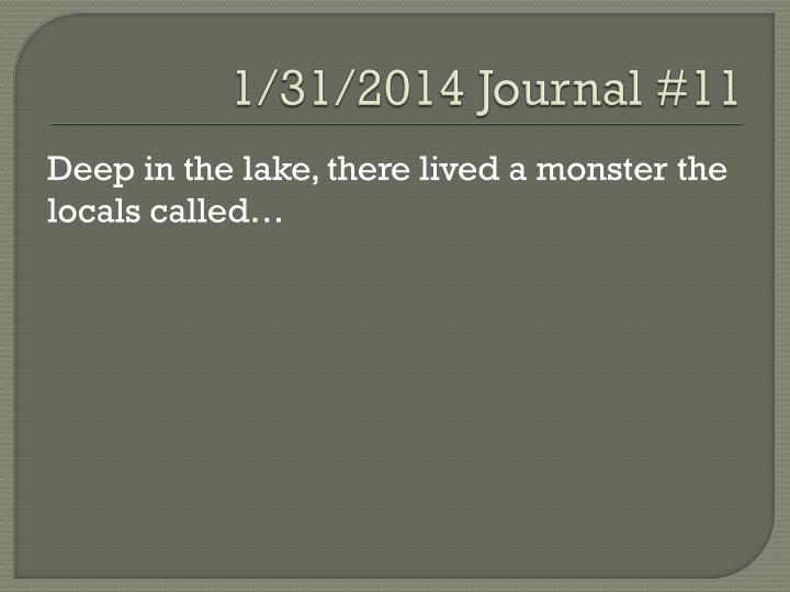 1/31/2014 Journal #11