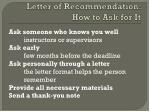 letter of recommendation how to ask for it
