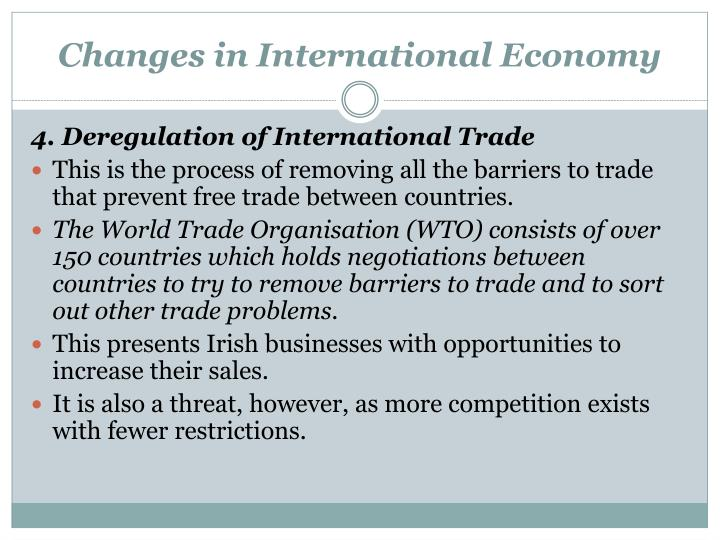 Changes in International Economy