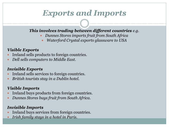 Exports and