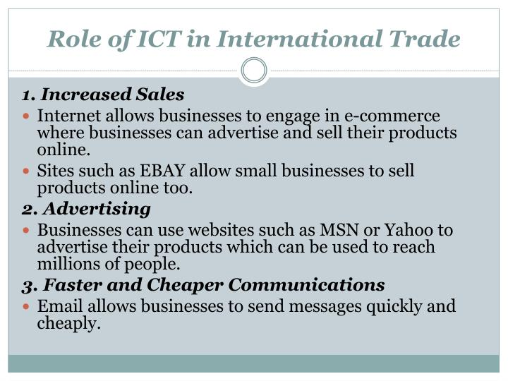 Role of ICT in International