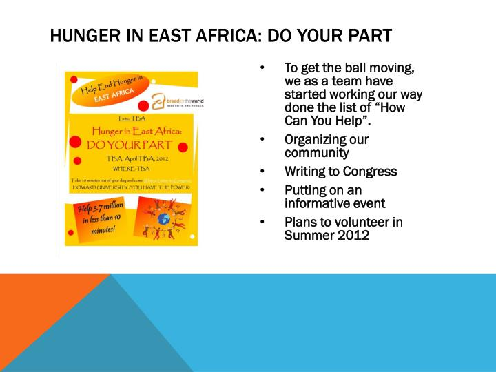 Hunger in East Africa: DO YOUR PART