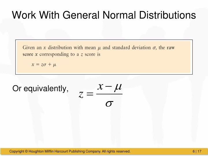 Work With General Normal Distributions