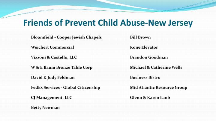 Friends of Prevent Child Abuse-New Jersey