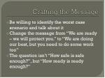 crafting the message1
