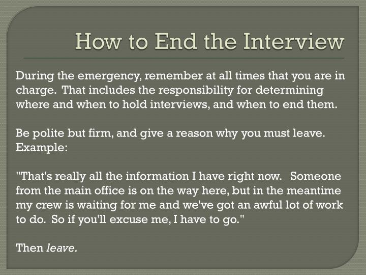 How to End the Interview
