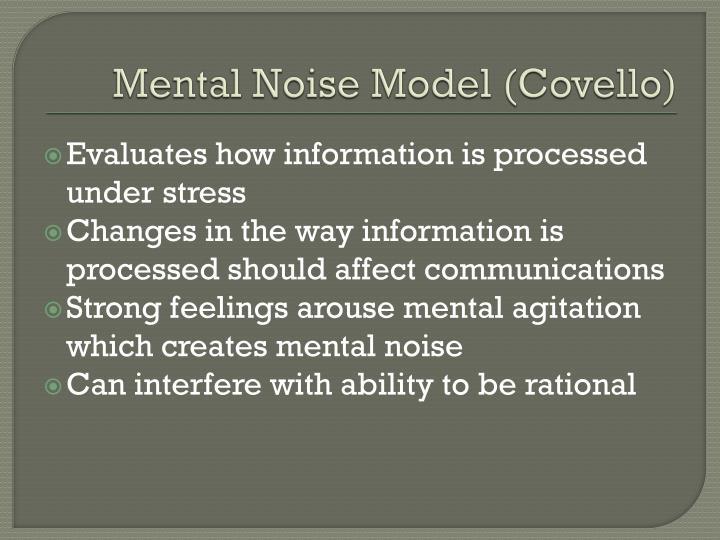 Mental Noise Model