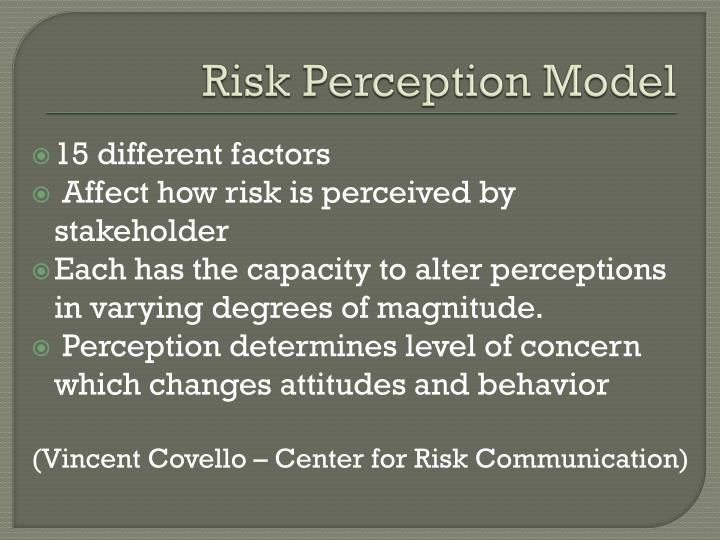 Risk Perception Model