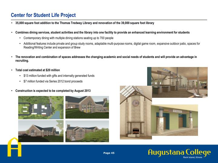 Center for Student Life Project