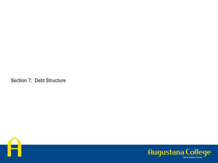 Section 7:  Debt Structure