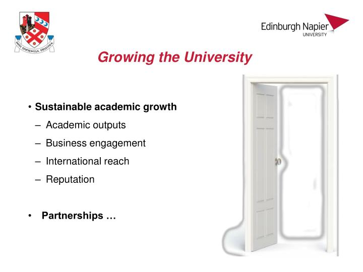 Growing the University