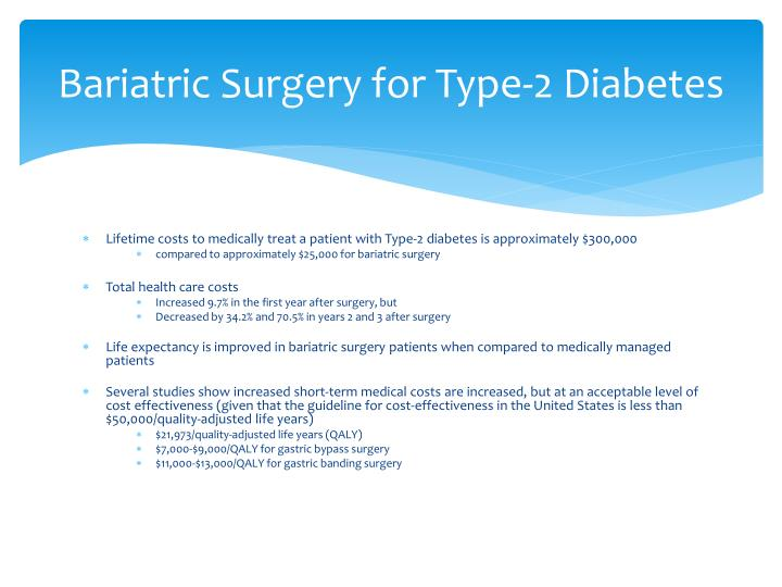 Bariatric Surgery for Type-2 Diabetes