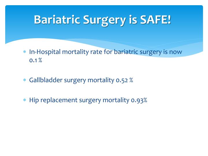 Bariatric Surgery is SAFE!