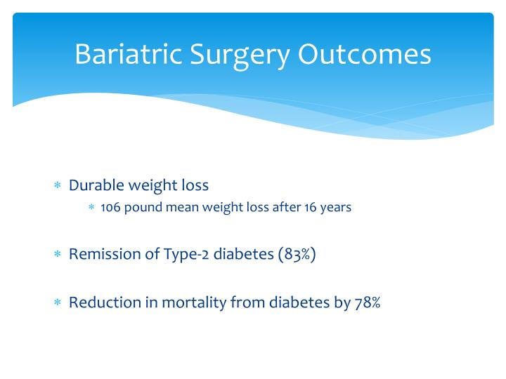 Bariatric Surgery Outcomes