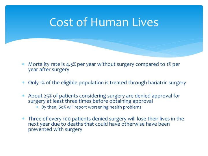 Cost of Human Lives