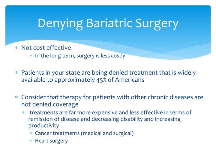 Denying Bariatric Surgery