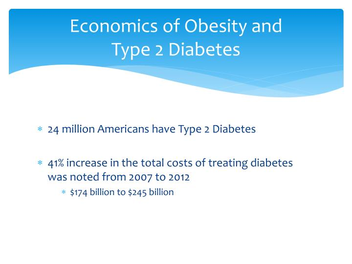 Economics of Obesity and