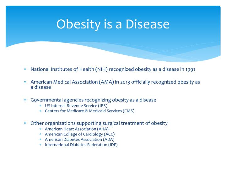 Obesity is a Disease