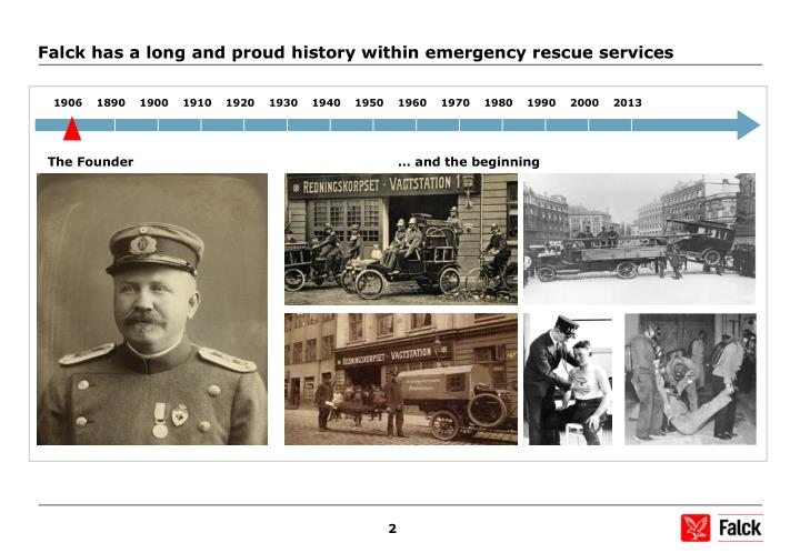 Falck has a long and proud history within emergency rescue services