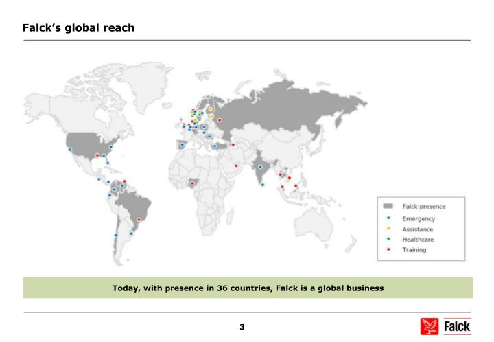 Falck's global reach