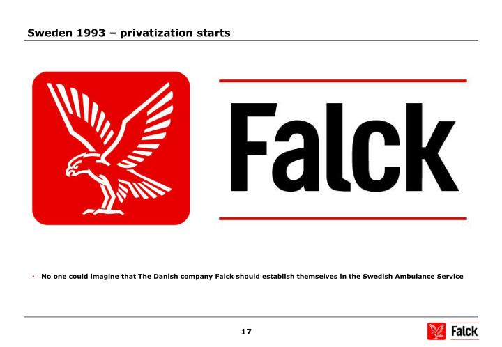Sweden 1993 – privatization starts