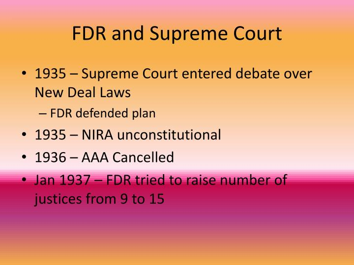 FDR and Supreme Court