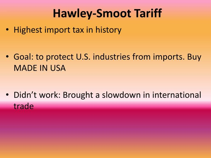 Hawley-Smoot Tariff