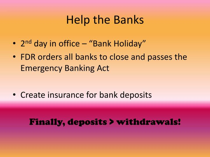 Help the Banks