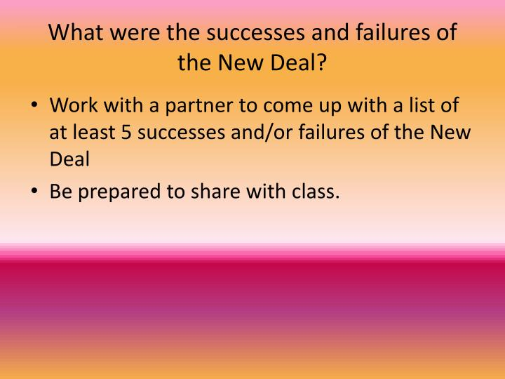 What were the successes and failures of the New Deal?