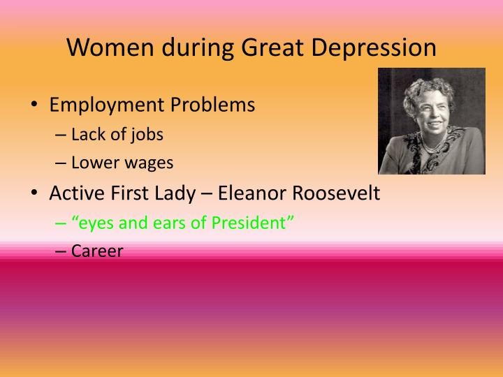 Women during Great Depression