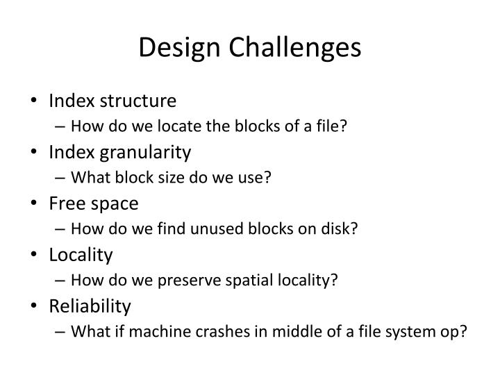 Design Challenges