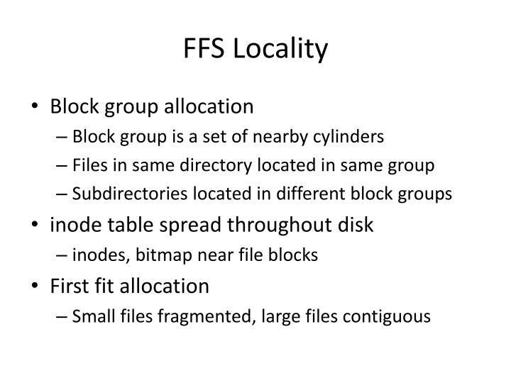 FFS Locality
