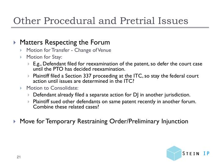 Other Procedural and Pretrial
