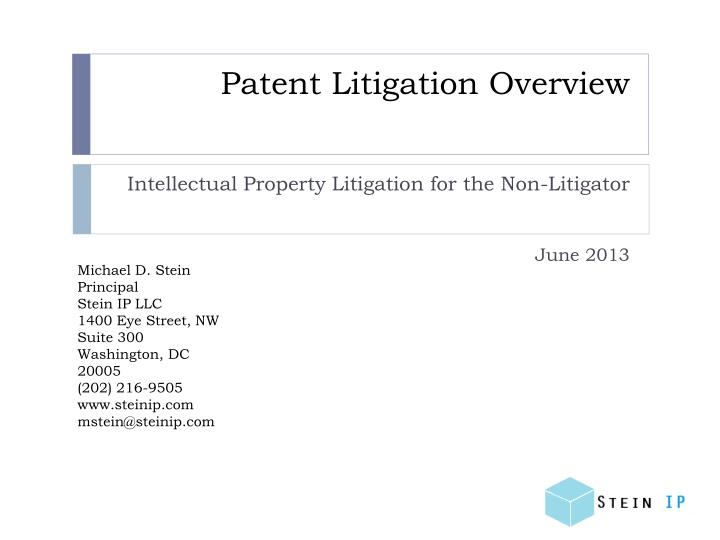 Patent litigation overview