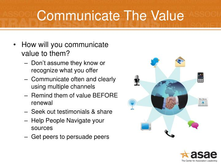 Communicate The Value