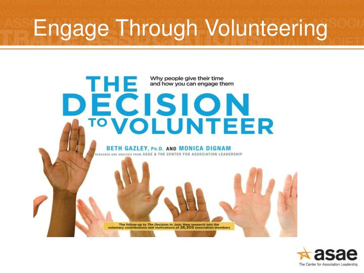 Engage Through Volunteering