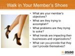 walk in your member s shoes