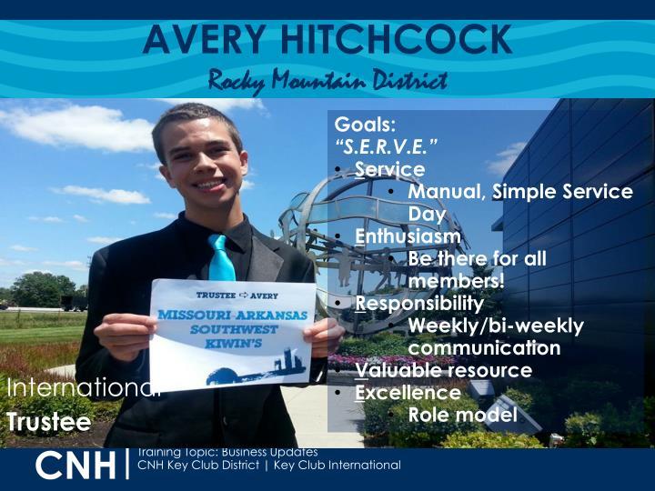 AVERY HITCHCOCK